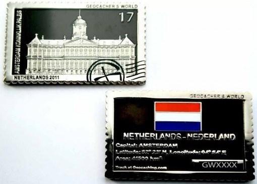 Picture: Geocacher's World Geocoin -NETHERLANDS-