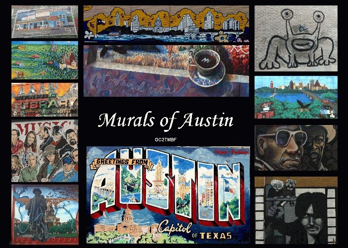 Gc2tmbf murals of austin multi cache in texas united for Austin mural location