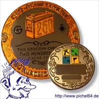 250 Finds Geo-Archievement Geocoin