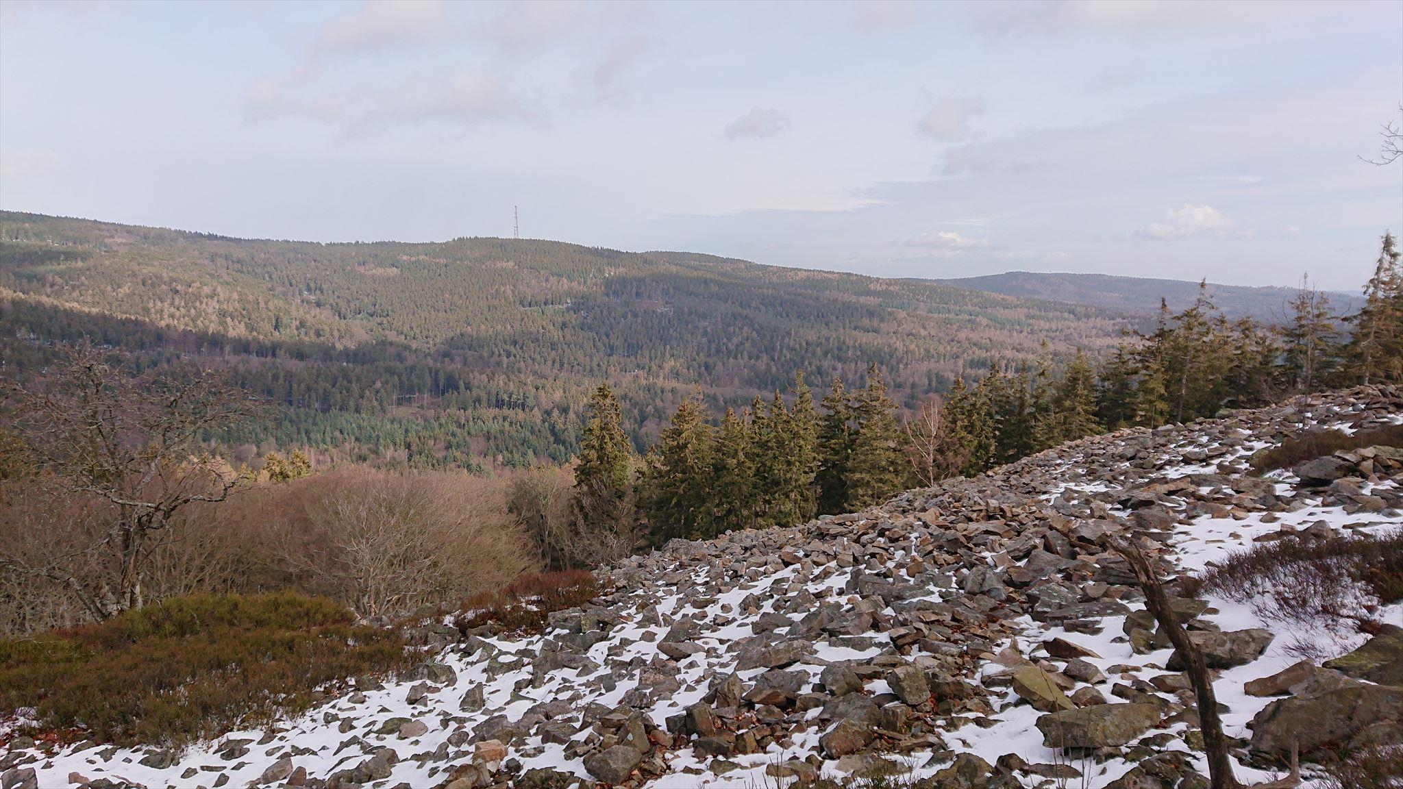 Blick auf den Kolbenberg von der Weißen Mauer