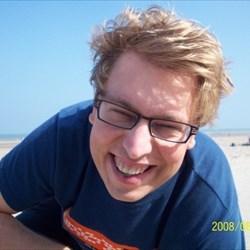 Johan op het strand