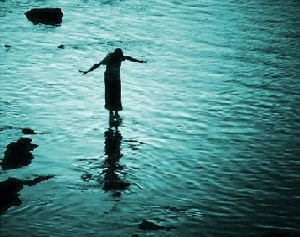 caminhar sobre a água