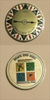 Compass Rose Geocoin