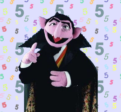 Image result for the count counting to 5