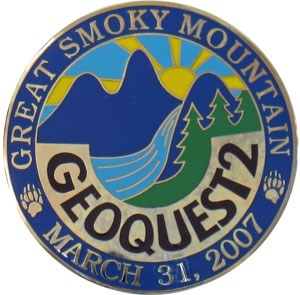 2007 Smoky Mountain Geoquest Geocoin - front
