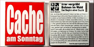 luzzi1971's Cache am Sonntag Geocoin