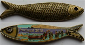 Portugal 2015 Geocoin - Antique Gold LE 60