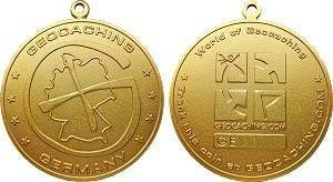 German Geocoin - Satin Gold