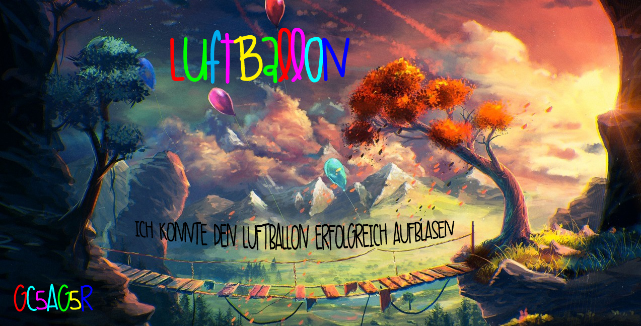 Banner Luftballon