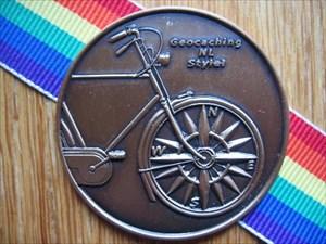 Kris-kras fiets geocoin