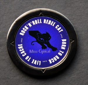 Miss-Cynical's Personal Coin Black
