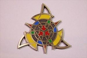 The Celtic Triangle Geocoin - Antik Bronze