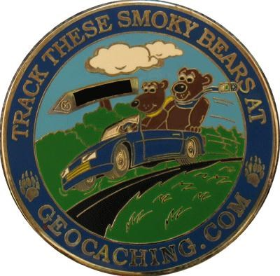 2007 Smoky Mountain Geoquest Geocoin - back