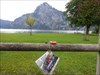 <span class=&quot;LogImgTitle&quot;>Paul&#180;s feet at Austria</span><p class=&quot;LogImgDescription&quot;>great view on Traunsee (lake) and Traunstein (mountain)!</p>