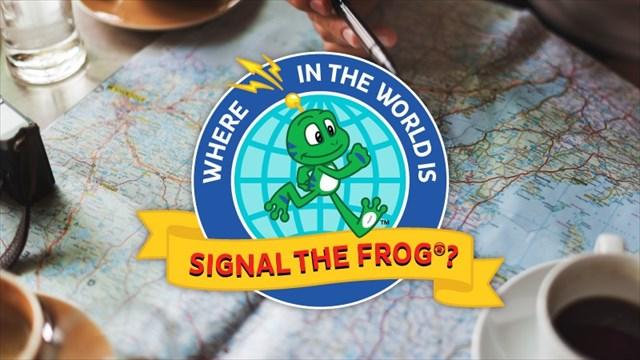Tge Frog celebrates in Canada