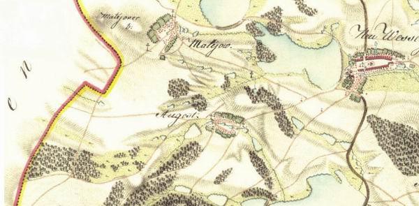 Morava – Ujezd, Matejov, Nove Veseli 1780.