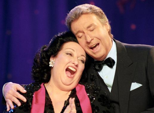 Peter Alexander und Montserrat Caballe