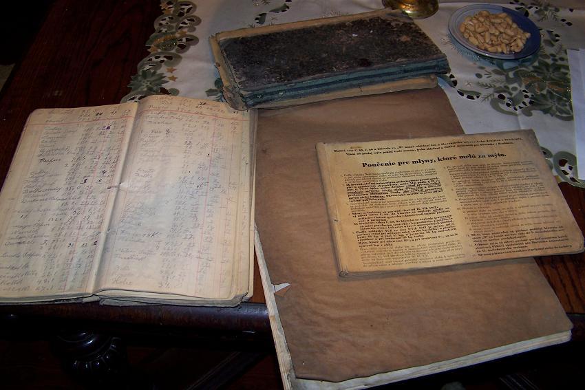 Dobova evidencia, uctovne knihy