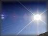 Por cima de nós, o Sol radioso...