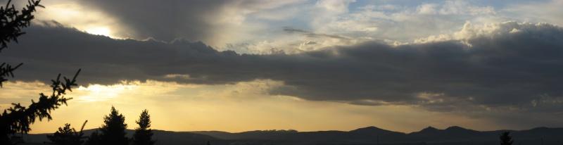 Západ Slunce nad Chriby