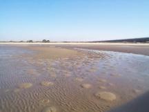 Samouco - Praia Fluvial na maré baixa
