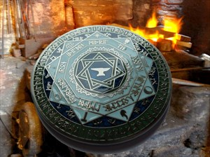 Dwarven Soul Geocoin ~ Shadow and Flame Back