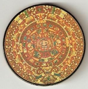 Black Aztec Calendar Geocoin