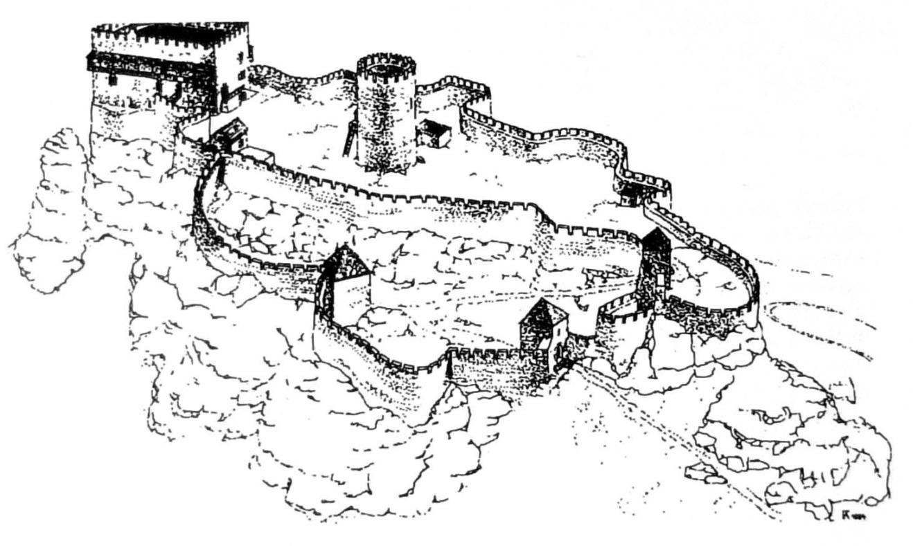 Spiš Castle - rekonštrukcia podoby v 14.storočí