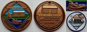 GeoRendezvous 2008 Geocoin - Copper (+ Batch)