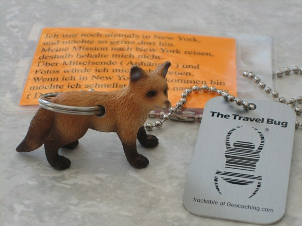 Trackable Tag Fox Red Fox Travel Tag For Geocaching Travel Bug