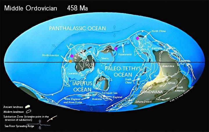 Ordovicien à - 458 Ma