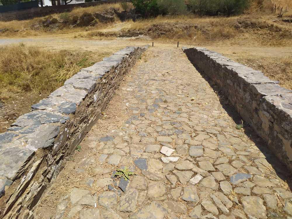 Ponte romana vista superior