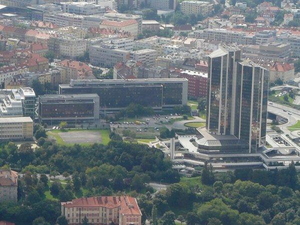 Heliport Kongresová ze vzduchu, foto Ondřej Franěk