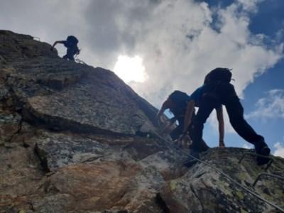 Klettersteig Piz Trovat : Gc emk klettersteig piz trovat traditional cache in graubünden