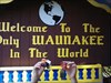 Todie & Shere Kahn The sign leading into town for the only Waunakee in the world.