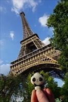 Parisian Panda at the Eiffel Tower