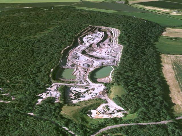 Ariel view of Haughmond Quarry