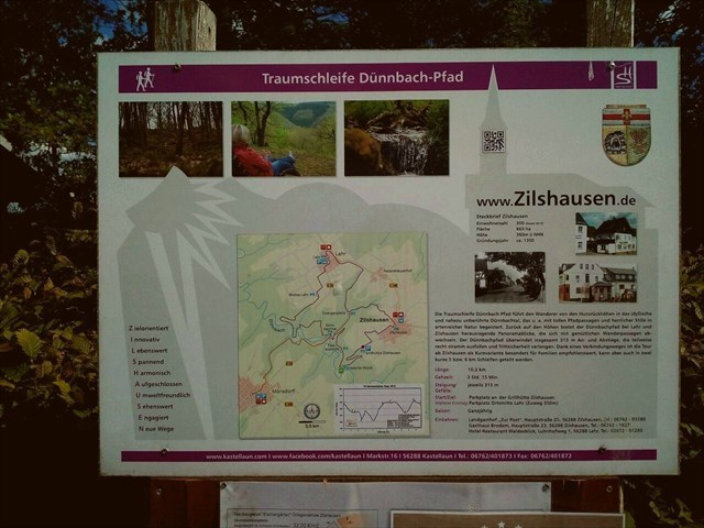 Wanderweg Traumschleife Dünnbachpfad