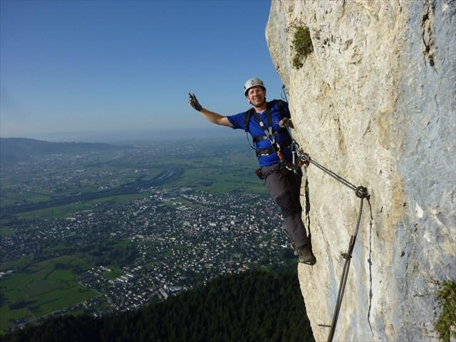 Klettersteig Via Kapf : Gc wcjm via kapf klettersteig traditional cache in vorarlberg