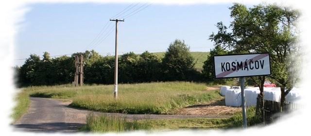 Kosmáčov cedule obce