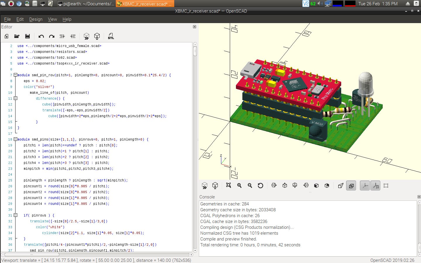 OpenSCAD - Raspberry Pi Forums