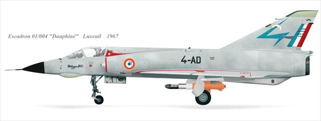 Profil du Mirage IIIE aux couleurs du Dauphiné