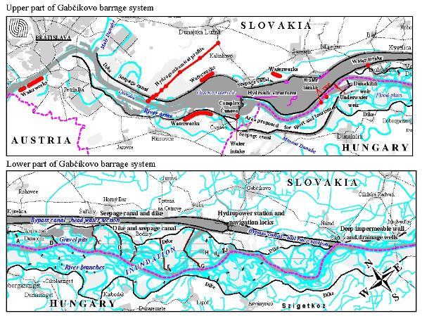 overview dam of Gabcíkovo-Nagymaros