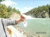 SAM_0414 The Travel Bug at Bow River Falls.