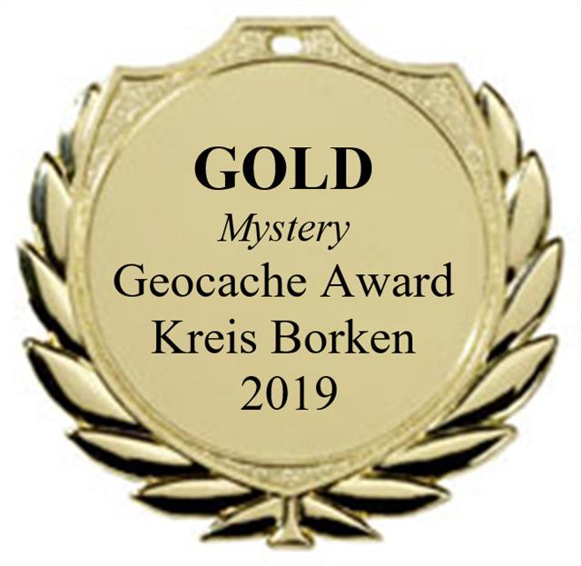 GOLD (Mystery) - Geocaching Award Kreis Borken 2019