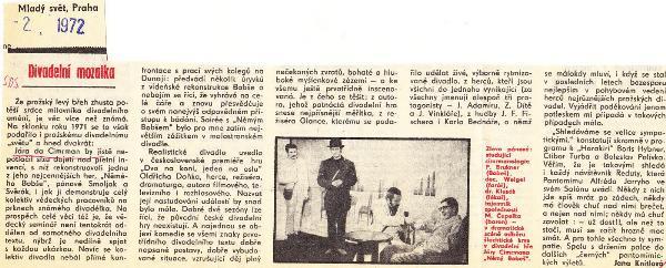 Mladý svet výstrižek c2-1972