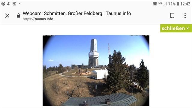 taunus webcam feldberg