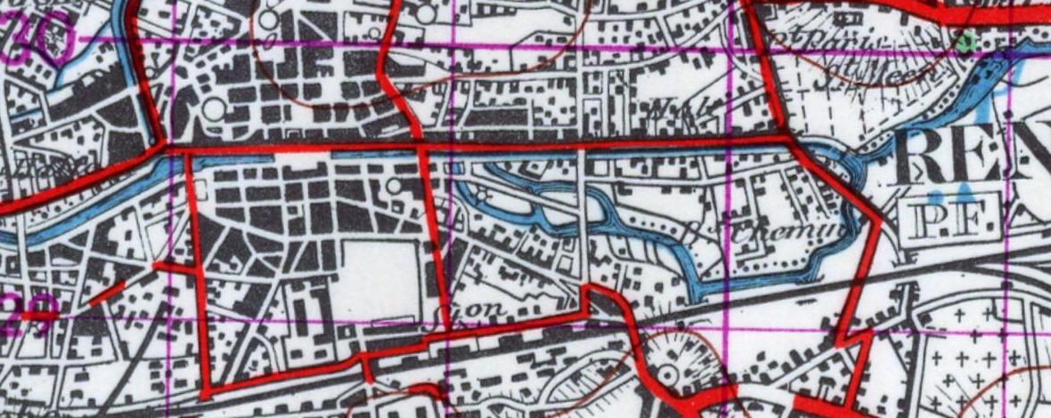 Carte topographique de 1950 (source IGN)