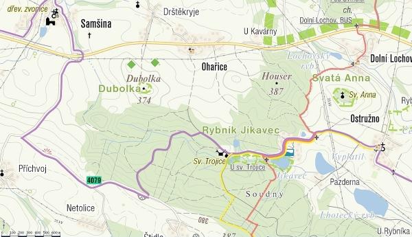Dubolka mapa