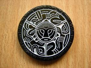 Pathtag Sherpa Black NikkelSilver Glitter Geocoin